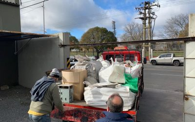 Retiraron los primeros bolsones con residuos del Punto Limpio Usina