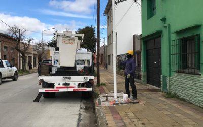 Tareas de mantenimiento en el alumbrado público