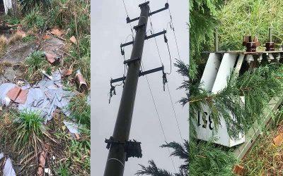 Roban cables de la red de alumbrado público y cobre de un transformador