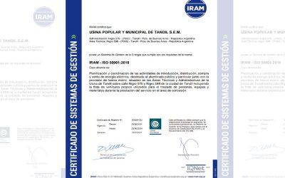 La Usina de Tandil certificó nueva norma de gestión por su eficiencia energética